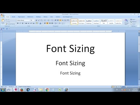Increase or Decrease Font Size with Shortcut key in MS Word New