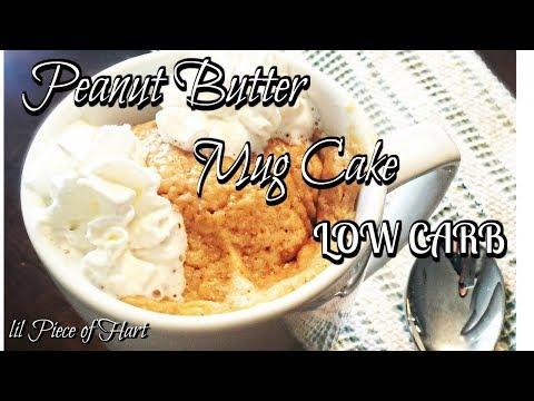 LOW CARB Peanut Butter Mug Cake