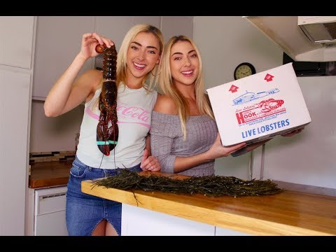 COOKING LIVE LOBSTER | Nolan Twins