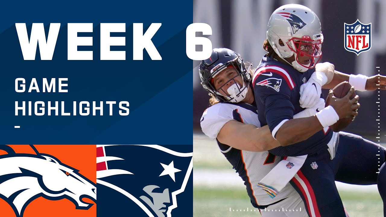 Broncos vs. Patriots Week 6 Highlights | NFL 2020