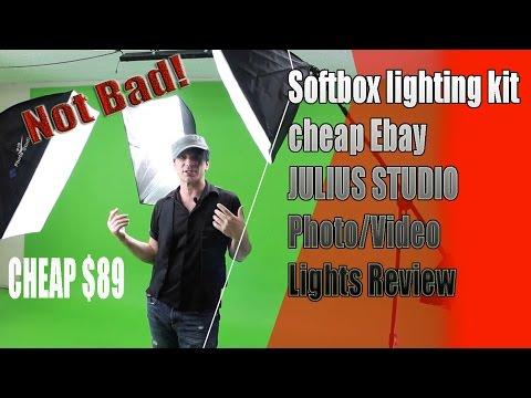 Softbox lighting kit cheap Ebay JULIUS STUDIO Photography or Video Lights Review