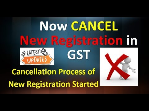 GST Cancellation of NEW REGISTRATION | How to CANCEL NEW REGISTRATION | Step by Step #2