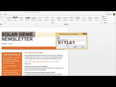 Word 2013-How to Create Your Own Style