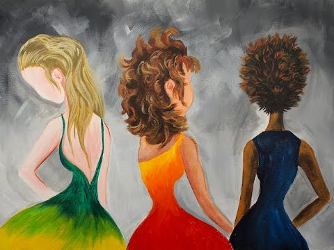 Learn to paint Hair in Acrylic Paint for Beginning Artists #bigartquest