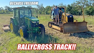We Built the Freedom Factory an OFF-ROAD Track To Race Our Crown Vics lol!!! (going to be epic)