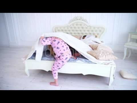 Baby Girl Wakes Parents in Bed, Climb Under Blanket