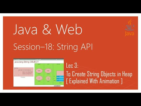 String API in Java | #3 | To Create String Objects in Heap in Java [ Explained With Animation ]