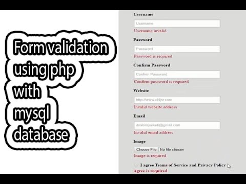 Form validation using php with mysql database PART ONE   Form validation in php bangla tutorial