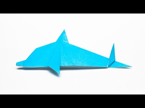 How to make an easy Origami Dolphin step by step