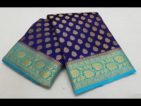 Traditional Linen Katan Saree || Indian Traditional Silk Saree collections