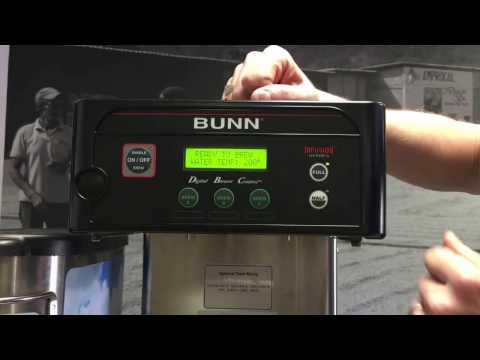 BUNN ICB Coffee Brewer: Programming for Iced Tea