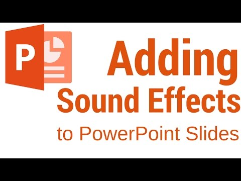 How to add sound effects to your slides in PowerPoint 2016