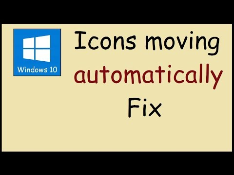 How to stop Windows 10 icons from rearranging after refresh