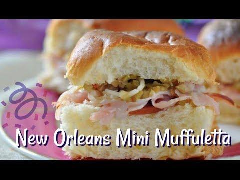 Mini Muffulettas Perfect For Mardi Gras Party Appetizer