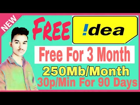 Idea free tariff and net balance free activate for 90 days || Idea me free top up aur net balance||