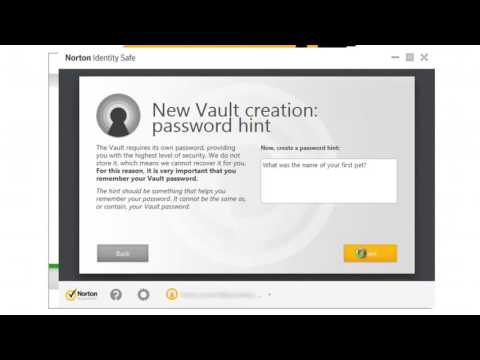How to set up a vault within Norton Identity Safe