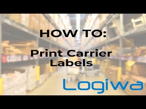 How To: Select Shipment Methods + Print Carrier Labels | Logiwa WMS