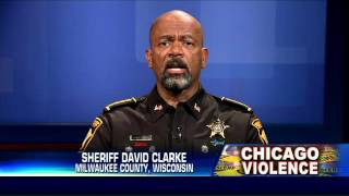 Sheriff David Clarke slams Obama, Rahm Emanuel after 33 weekend shootings in Chicago.