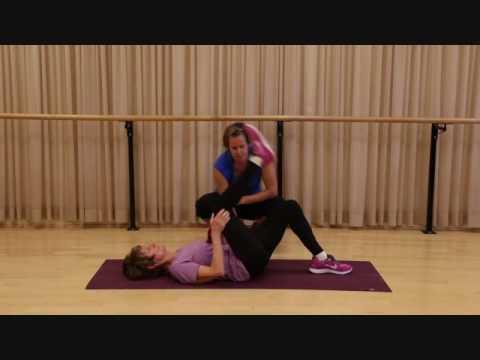 Back of leg stretch- no equipment needed