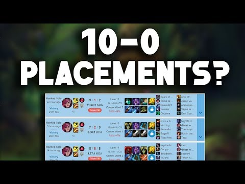 GOING 10-0 IN PLACEMENTS? PLAYING VS GOSU - Road to Challenger Ep.1