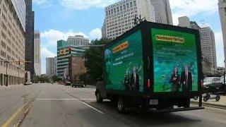 Mobile billboard slams education secretary Betsy Devos over school reopening plans