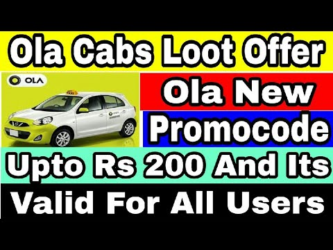 Ola New Offer:- Get Upto Rs 200 Off On Ola Ride || New Promocode For All Users 2017 In Hindi