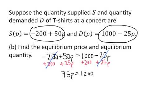 Example: Supply and Demand