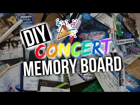 DIY CONCERT MEMORY BOARD!