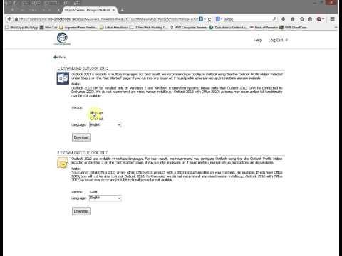 Outlook 2013 Setup