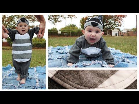 Raccoon Costume | Baby's First Halloween | DIY Inspiration - Whitney Sews