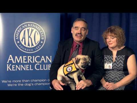 Rodney and Marcie Beedy and Xander - 2014 AKC Humane Fund Awards for Canine Excellence