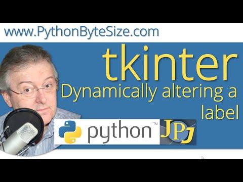 Dynamically altering a Python tkinter label