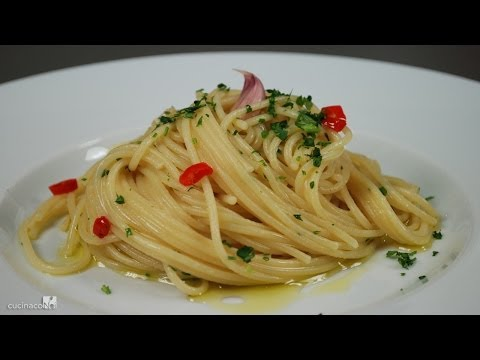 Garlic, Oil and Chili pepper Spaghetti