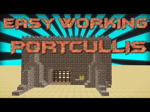 MINECRAFT | How To Make A Working Portcullis In Minecraft | MINECRAFT BUILDING TUTORIAL | Redstone