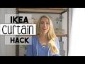 DIY DECOR: IKEA Curtain HACK | DIY Curtain | No Sew Hem