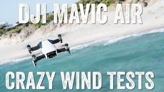 DJI MAVIC AIR: High Wind Tests!