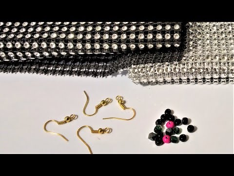 Easy earrings making at home | DIY beads and lace earrings making ideas