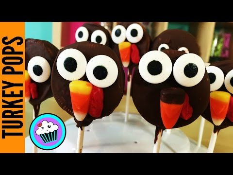 How to make Thanksgiving Turkey Cookie Pops | Pinch of Luck