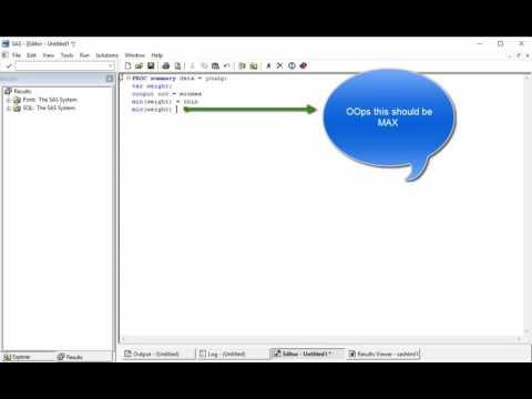 PROC SQL Aggregation