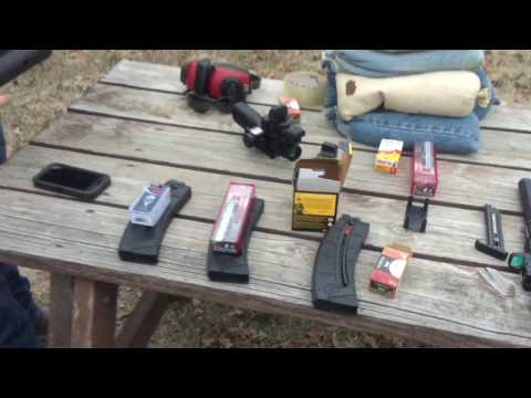 Trying the M&P 15 with a Slide fire stock and we compare different ammo - fun 22