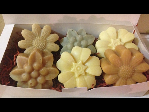 How to make 6 different soaps from 1 batch /easy gift set / using Essential oil, goat milk, honey