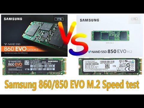 SSD Samsung 860 EVO M.2 VS Samsung 850 EVO M.2 Speed Test and Comparison