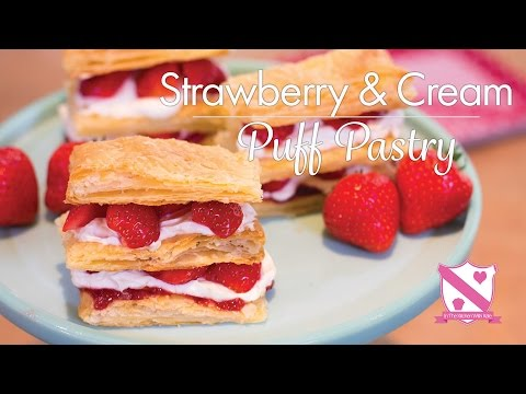 Strawberry & Cream Puff Pastry - In The Kitchen With Kate