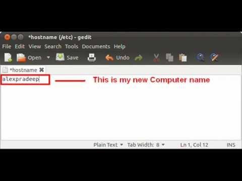 How to change computer name in ubuntu 11.10