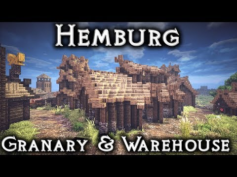 Minecraft: Hemburg - Ep19 Granaries and Warehouses (Live Stream)