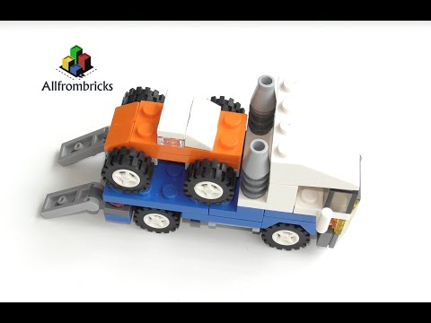 Lego Creator 4838 Mini Vehicles car transporter - Speed Build 4K