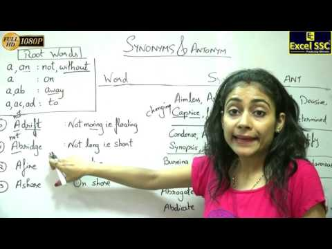 SSC CGL & Bank English Vocabulary: Demo Tutorial 8 - By Mudita Ma'am (Excel SSC Coaching)