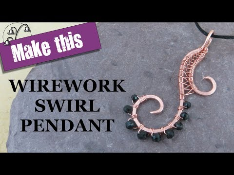 Wirework Swirl Pendant - Wire Weaving Tutorial