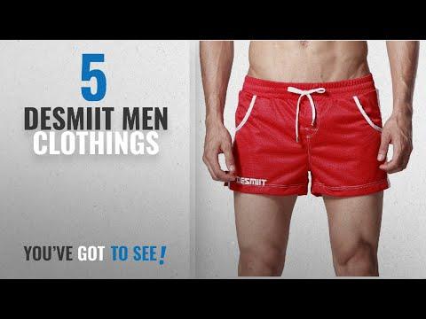 Top 10 Desmiit Men Clothings [ Winter 2018 ]: DESMIIT Men's Mesh Pocket Short Red US Medium Asia XL