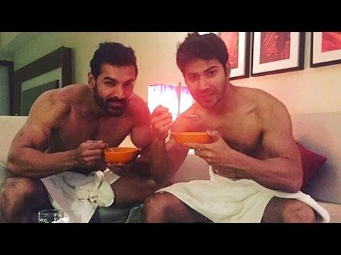 Xxx Mp4 John Abraham Amp Varun Dhawan Post Pics In Towel For Dishoom Promotions 3gp Sex